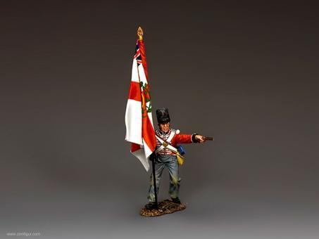 Temporärer Regiments-Fahnenträger