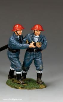 RAF Feuerwehrleute beim Löschen
