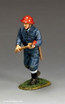 RAF Feuerwehrmann mit Axt