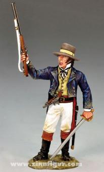 Colonel Travis, kämpfend