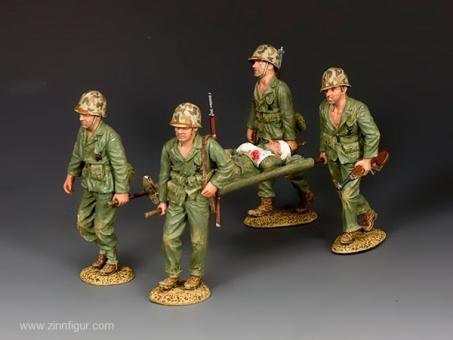 USMC Soldaten mit Verwundetem auf Trage