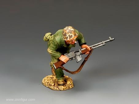 Rennender Marine Corps Soldat mir B.A.R. Gun