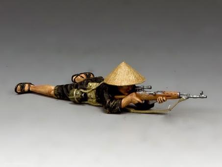 Liegender Viet Cong Scharfschütze