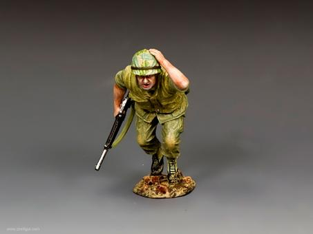 US Soldier Running for Cover