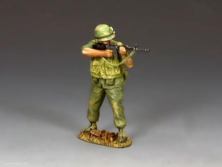 US Marine Standing Firing