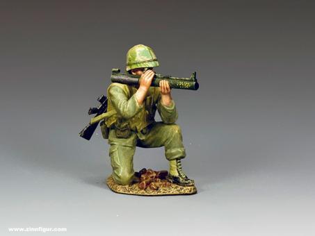 Kniender Marine LAW Schütze