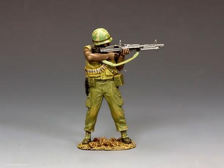 US Marine Machine Gunner