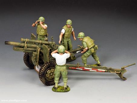 USMC Artillery 105mm Howitzer & Crew Set