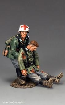 Sanitäter und Verwundeter