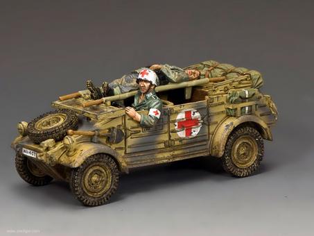 Kübelwagen Ambulanz - Kriegsmitte bis Kriegsende