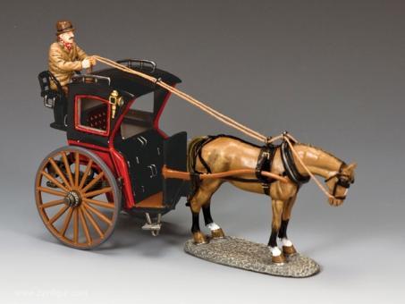 """Hansom Cab"" Pferde-Taxi - Rot"