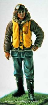 RAF-Pilot im Fliegeranzug