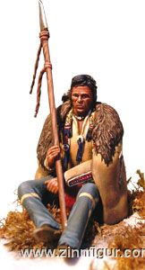 Prärieindianer, sitzend