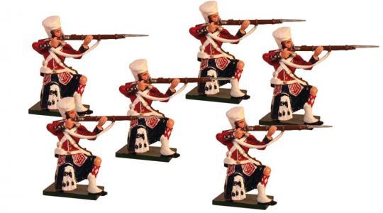 42nd Highlanders, kniend, feuernd