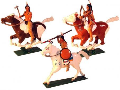 Indianer zu Pferd im Angriff