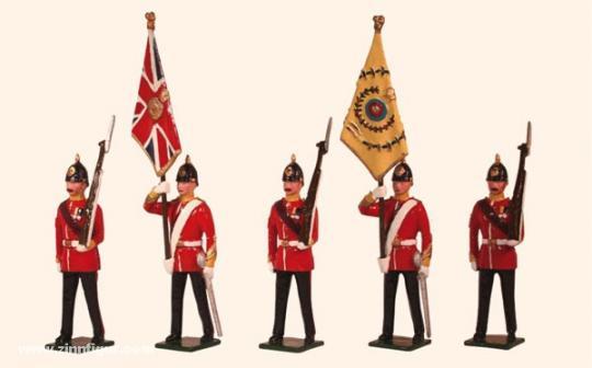 "Colours and Escort ""The Buffs East Kent Regiment"""