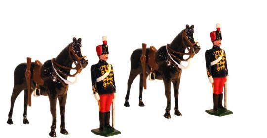 11th Prince Albert's Own Hussars - Mannschaften mit Pferden