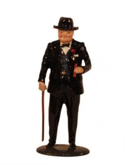 Sir Winston Churchill with Walking Stick