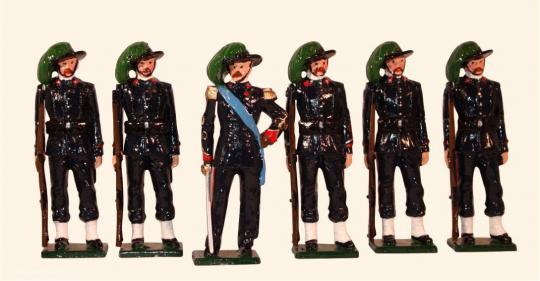 Italienische Bersaglieri um 1900