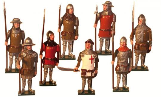 Englische Fußsoldaten bei Agincourt