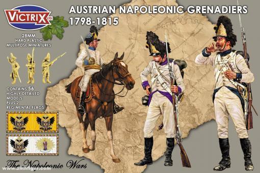 Österreichische Grenadiere mit Fellmützen