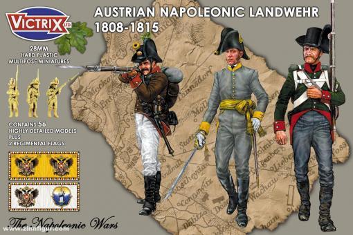 Österreichische Landwehr mit Korsischen Hüten