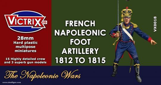 Französische Napoleonische Fußartillerie 1812-15