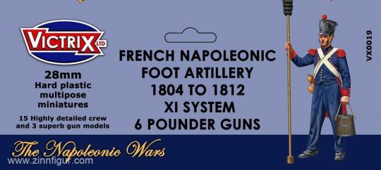 French Napoleonic Foot Artillery 1804-12 XY System 6 Pounder Guns