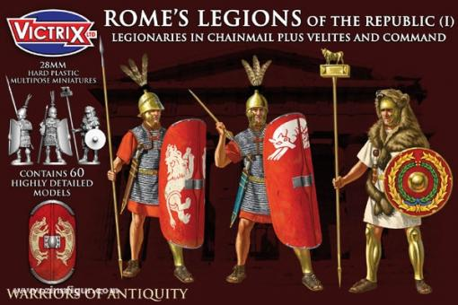 Römische Republikanische Legionäre in Kettenhemden