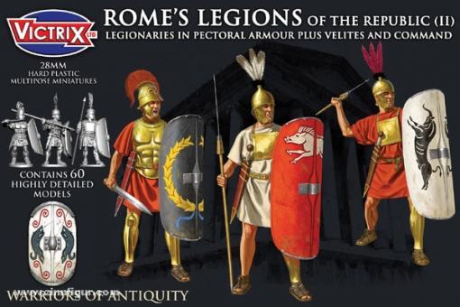 Römische Republikanische Legionäre in Muskelpanzern