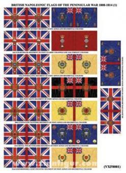 Britische Infanteriefahnen