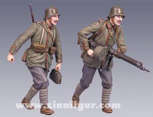 Maschinengewehr-Trupp, vorgehend