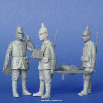 Deutsche Soldaten mit Feldtelefon WK1