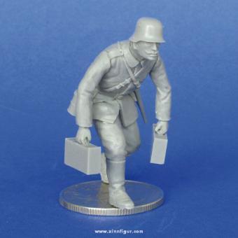 Deutscher Soldat, Munition tragend, WK1