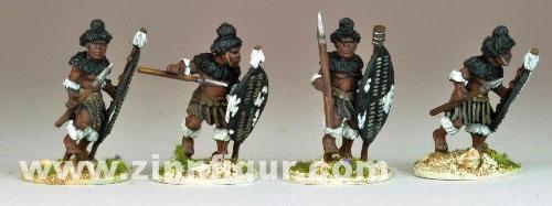 Matabele Warriors in full Regalia (Insuga Regiment)