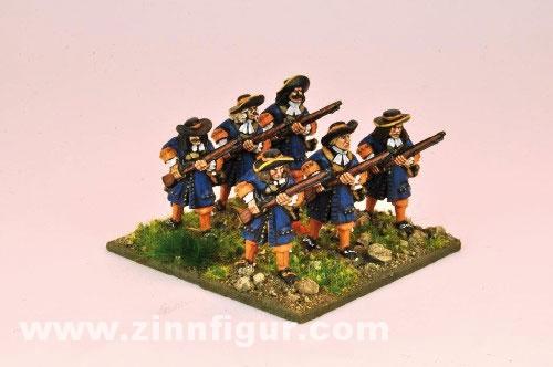 Musketiere in Bereitschaft