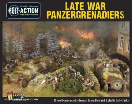 Späte Panzergrenadiere mit Hanomag