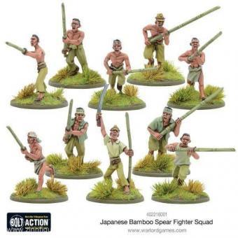 Japanische Bambus-Speer Kämpfer Squad