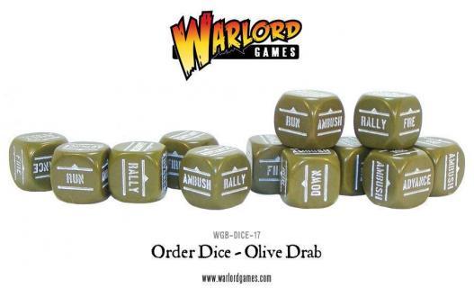 Bolt Action Befehls-Würfel - Olivgrün