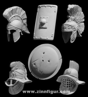 Griechische und Römische Helme und Schilde