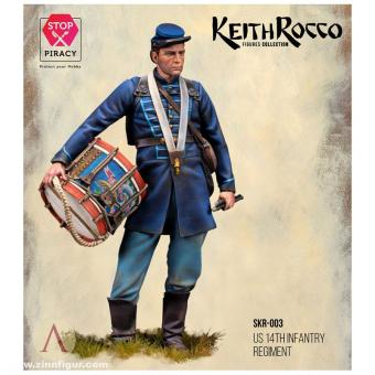 """Trommler - 14th US Infantry Regiment - """"Keith Rocco Collection"""""""