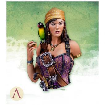 Piratin Mary Read - Büste