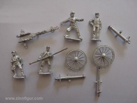 Unions-Artillerie, feuernd