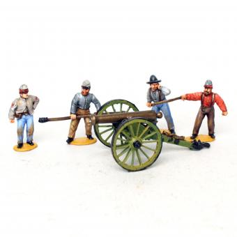 Konföderierte Artillerie, feuernd
