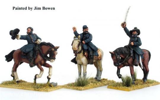Unions-Generale zu Pferd
