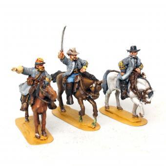Konföderierte Generale zu Pferd