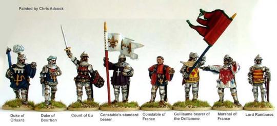 Französischer Stab bei Agincourt