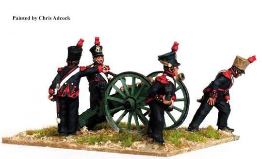 Fußartillerie, 6-Pfünder Geschütz abfeuernd