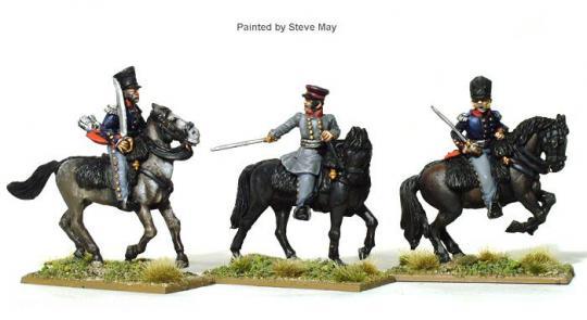 Preußische Offiziere zu Pferd
