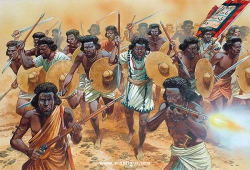 Sudanesische Stammeskrieger 1881-85